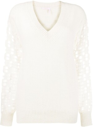 See by Chloe open-knit V-neck sweater