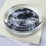 Clouds and Currents Personalised Wedding Photo And Message Paperweight