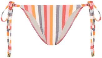 Peony Swimwear Rainbow Stripe Bikini Bottoms