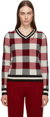 Rag & Bone Red Gabby V-Neck Sweater