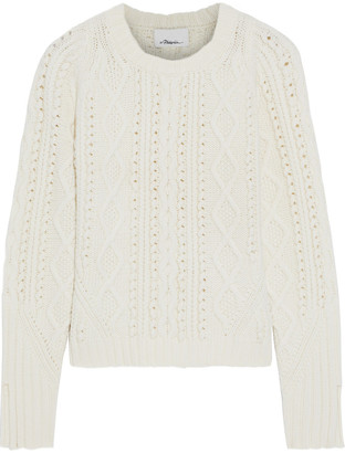 3.1 Phillip Lim Cable-knit Wool Sweater