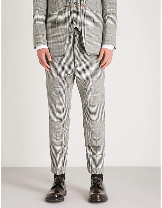 Vivienne Westwood Houndstooth regular-fit tapered wool trousers