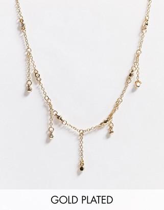 Saint Lola gold plated bezel crystal choker necklace
