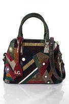 Maison Margiela Multi-Color Suede Patchwork Gold HW Satchel Handbag