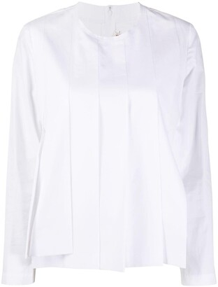 Comme des Garcons Pleated Long-Sleeved Top