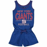 New Era Girls Youth 5th & Ocean by Royal New York Giants Baby Jersey Romper