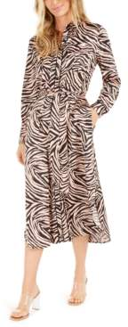 Bar III Becca Tilley x Animal-Print Shirtdress, Created For Macy's