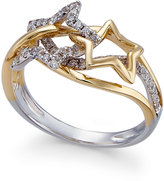 Macy's Diamond Star Ring (1/3 ct. t.w.) in 14k Gold and White Gold