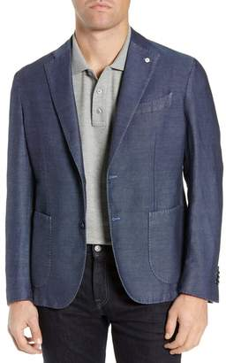 Lubiam Slim Fit Solid Linen & Cotton Sport Coat