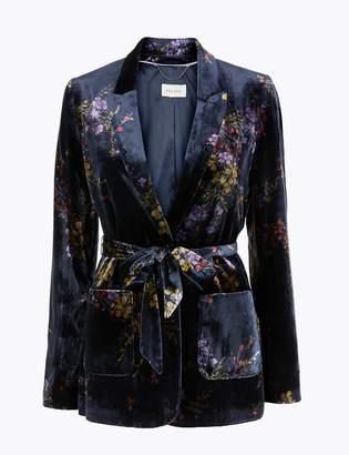 Per Una Per UnaMarks and Spencer Belted Floral Velvet Jacket