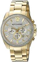 Wittnauer Mens WN3051 22mm Stainless Steel Gold Watch Bracelet
