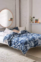 Urban Outfitters Denim Tie-Dye Duvet Cover