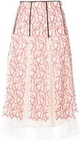 Giambattista Valli embroidered floral skirt