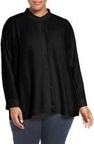 Eileen Fisher Plus Size Women's Silk Georgette Crepe Blouse
