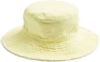 Topshop Raw Edge Floppy Brim Bucket Hat