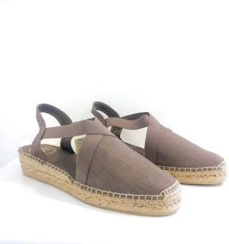 Toni Pons Linen Taupe Slingback Espadrille Sandals - linen | taupe | jute | 38/UK 5 - Taupe