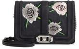 Rebecca Minkoff Small Love Embroidered Nubuck Crossbody Bag - Black