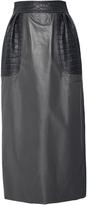 J. Mendel Crocodile Embellished Leather Skirt