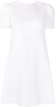 Alexander McQueen Shift Back-Pleat Dress