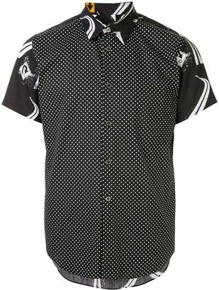 Comme des Garcons Cutaway Collar Printed Shirt