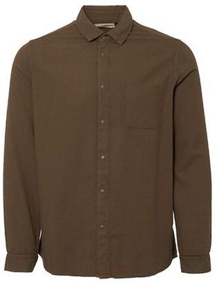 Folk Flannel Pop Stud Shirt Military Green - 1