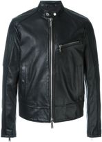 DSQUARED2 classic biker jacket - men - Calf Leather/Polyester - 50