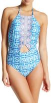 Nanette Lepore Seaside Halter One-Piece Swimsuit