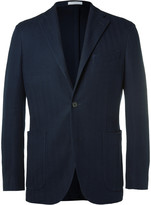 Boglioli Blue K-Jacket Cotton-Hopsack Blazer
