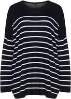Yoek Plus Size Striped jumper