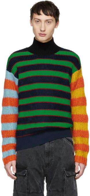 672c927bcc Multicolor Striped Memento Turtleneck