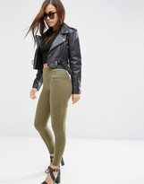 Asos Skinny Pants with Seam Detail and Zips