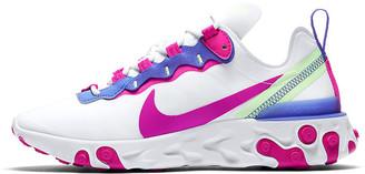Nike White Fire Pink BQ2728 104 React Element 55 Sneaker React Element 55 White Fire Pink Sapphire Barely Volt BQ2728 104 - EU 37.5