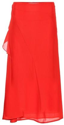 Victoria Beckham Silk midi skirt
