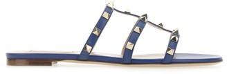 Valentino Rockstud Flat Slide Sandals