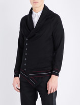 Alexander McQueen Shawl collar cashmere cardigan