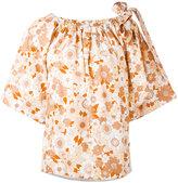 Chloé floral bow shoulder blouse