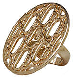PeepToe Labyrinth Ring Gold