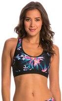 Pink Lotus Movement Tropical Floral Yoga Sports Bra 8142762