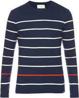 Solid & Striped Striped cotton long-sleeved top