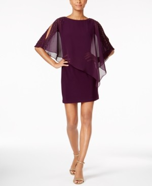 Xscape Evenings X by Capelet Sheath Dress
