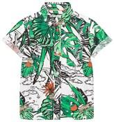 Billybandit Green Tropical Print Shirt