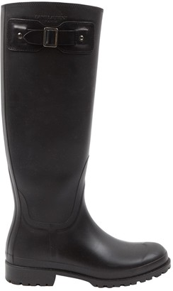 Saint Laurent Black Rubber Boots