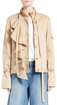 Robert Rodriguez Women's Ruffle Twill Jacket