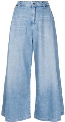 Emporio Armani Cropped Wide Leg Jeans