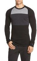 Smartwool Men's 'Nts Mid 250' Long Sleeve Colorblock Crewneck T-Shirt