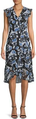 Karl Lagerfeld Paris Floral-Print Fit-&-Flare Dress