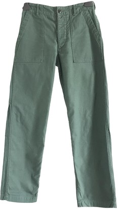 Engineered Garments Khaki Cotton Trousers for Women