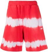 MSGM tie-dye track shorts