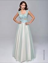 Nina Canacci - 8047 Dress in Mint/Nude