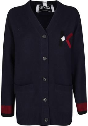 Kenzo Navy Blue Wool-blend Cardigan